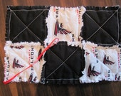 Atlanta Falcons Football Inspired Pacifier Clip Pacifier Holder/Burp Cloth Snuggle blankie Rag Quilted