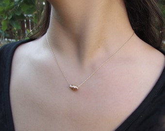 Simple Gold Necklace, Gold Minimalist Necklace, Knotted Necklace, Gold Necklace, Delicate Gold Necklace, Dainty Gold Necklace