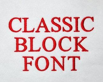 Classic Block Font