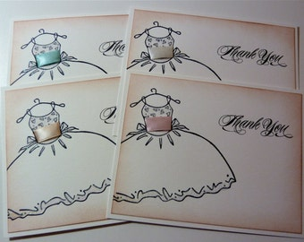 Wedding Thank You Notecards, Bridal Party Cards, Bridesmaids/Maid of Honor Thank You Cards - 4