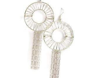 Dream Catcher Earrings, Wire Wrapped Earrings, Gifts for Women Mom Wife Sister Daughter Grandma Teacher Under 25, Stocking Stuffers