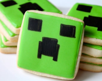 Creeper- one dozen cookie favors
