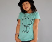 Chick in Boots girls T-shirt