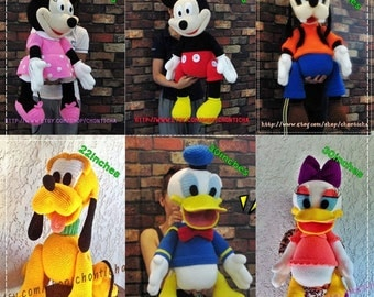 Mickey Mouse and the gang (6patterns) - Amigurumi crochet pattern