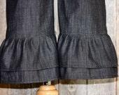 Double Ruffle Denim Pants - Back in Stock 8/15/13
