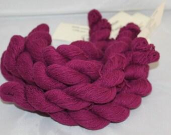 Purple Recycled Cotton Angora Blend Yarn, Lace Weight Yarn - 659 Yards