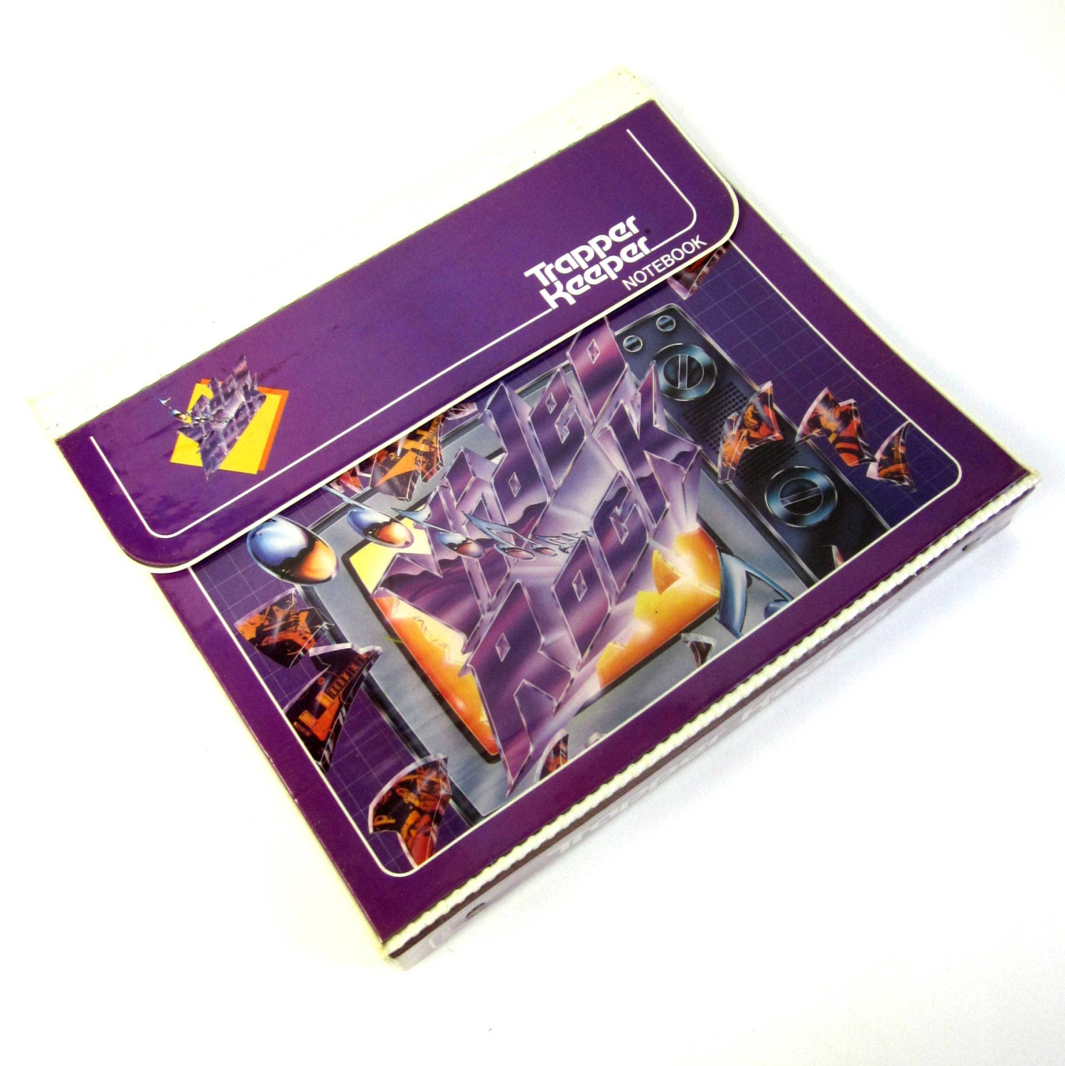 Video Rock Trapper Keeper Notebook 80s