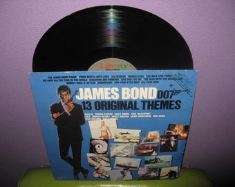 SHOP CLOSING SALE Rare Vinyl Record James Bond 007 13 Original Themes Lp 1983 Spy Classics Compilation