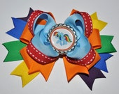 Rainbow Dash INSPIRED Bottlecap Bow