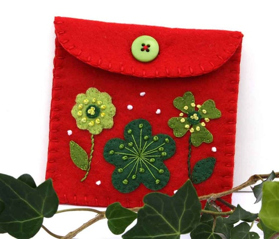 Sale felt coin purse christmas gift bag handmade