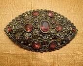Vintage Brooch Bohemian Brooch Crystal Brooch, Antique Brooch