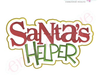 Santa's Helper Christmas Embroidery Design- Instant Email Delivery Download Machine embroidery design