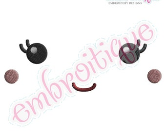 Doodley Doll Face 2 - several sizes included- Instant Email Delivery Download Machine embroidery design