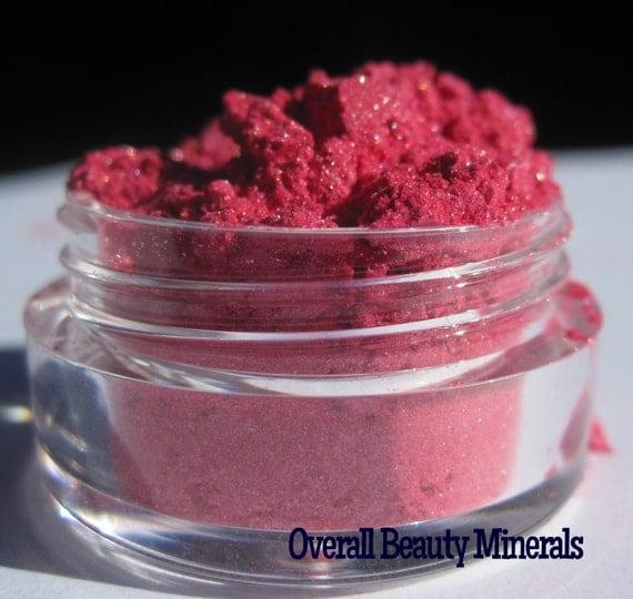 Flamingo Strut bold carmine free pink eye shadow mineral makeup vegan sample