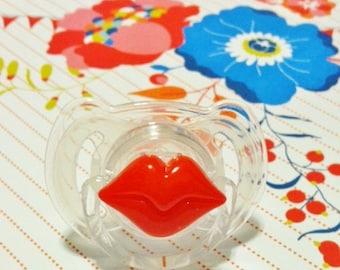 SALE Fabulous Girl's Red Pouty Lips...Trendy Pacifier...Lipstick
