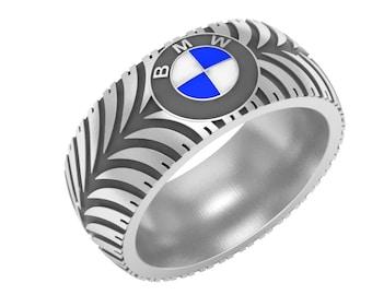 Tire Tread Wedding Bands
