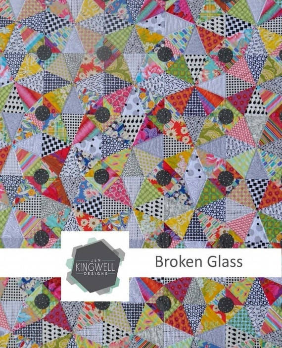 Broken glass by jen kingwell quilt pattern by modernquilter for Window pane quilt design