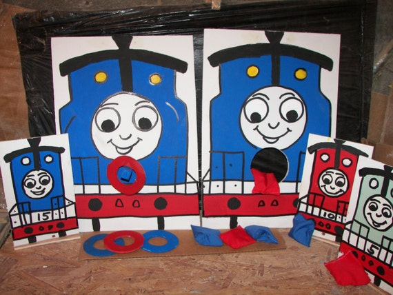 Thomas    ring and bean and set of 3 knock overs