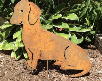 Dachshund Garden Stake Or Wall Hanging / Garden Art / Pet Memorial / Shadow  / Cut