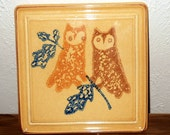 Vintage Pflatzgraff Owl Trivet America Collection