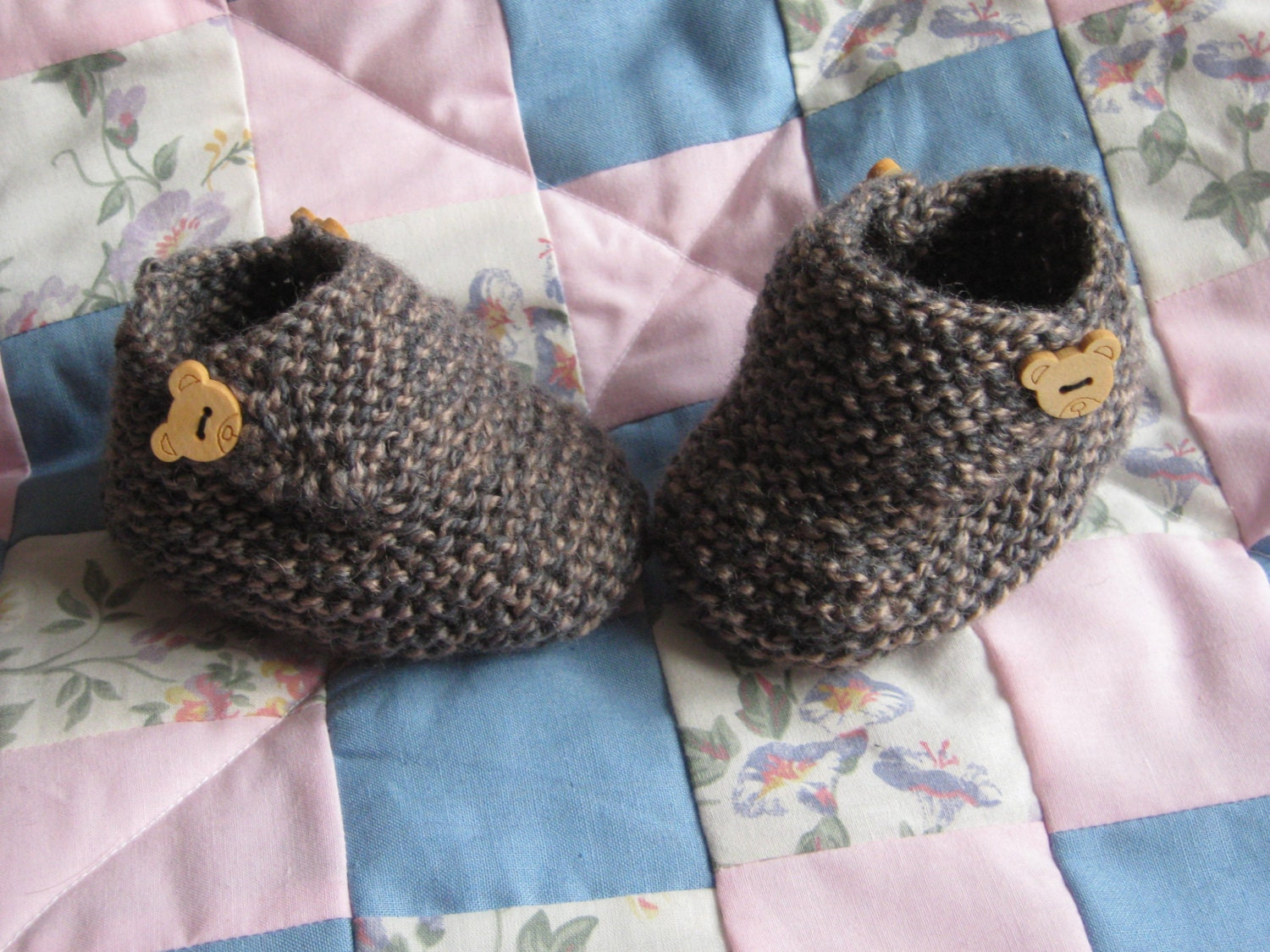 Very Easy Knitting Patterns For Babies : BABY KNITTING PATTERN Baby Boots/Booties Pattern Birth to 12