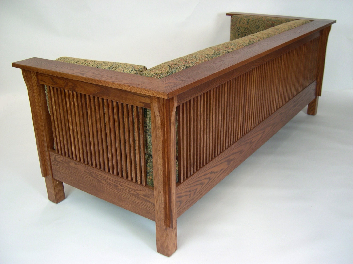 Mission Arts And Crafts Stickley Style Prairie Spindle Settle
