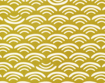 Organic fabric by Cloud9, Koi Canvas by Rashida Coleman- Hale, Smile and Wave Reed  - 1/2 Yard