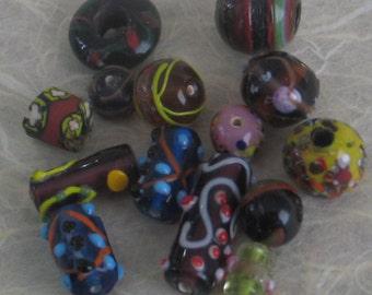 SALE 14 Pieces  Glass Bead Assortment