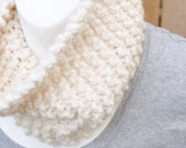Free Shipping Cream with Gold Metallic Tight Knit Infinity Scarf