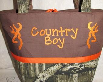 Mossy oak camo camouflage diaper bag, tote bag, carry all, baby bag, overnight bag, Camo diaper bag, buck, country boy