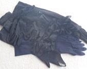 Vintage Gloves 6 Pairs Black and Blue Sizes 6 1/2 and 7