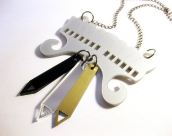 Art of war acrylic necklace - contemporary jewellery