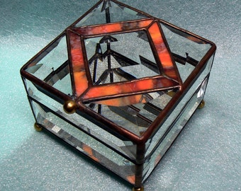 4X4 Beveled Leaded Crystal Boxes