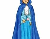 Girls' Hooded Cape Pattern, Girls' Princess Dress Pattern, Sz 3/4-5/6-7/8, McCall's Sewing Pattern 6420