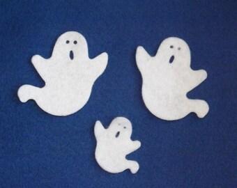 Felt die cut ghosts 6 sets of 3