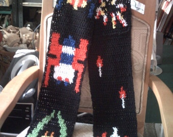 Arcade style Galaga Scarf- made to order slot