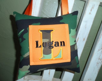 Camo Personalized Tooth Fairy Pillow