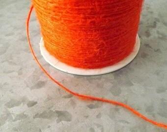 Burlap Orange Burlap String 20 Yards gift wrap craft supply party supply