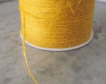 Burlap Yellow Burlap String 20 Yards gift wrap craft supplies