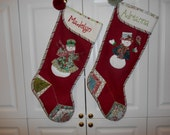 XL Handmade  Wool Christmas Stocking- Personalized - reetmomma