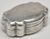 Antique Solid Silver Snuff Box French Box Compact Louis XV Style