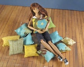 15 Piece Throw Pillow Assortment -- Neutrals