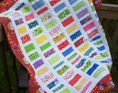SALE Bright Coins Lap Quilt for Girls