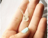 THE INITIAL NECKLACE - custom initial pendant - monogram - letter pendant - sterling silver