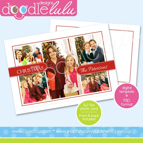 Photoshop Christmas Card Template Christmas Card Template For - Christmas card templates for photographers 2