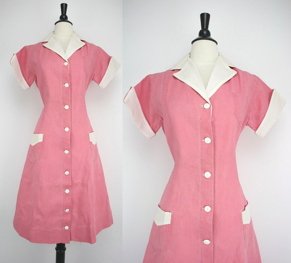 Pink Waitress Uniform 105