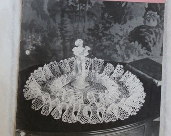 Ruffled Doilies and the Pansy Doily Star Book No. 59 Crochet Patterns 1948