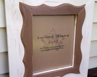 8x10 distressed frame with wavy trim