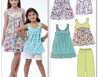 McCall's 6065 Children's/Girls' Tops, Dresses, Shorts and Capri Pants