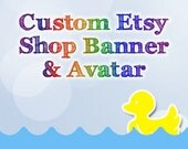 Custom Etsy Shop Banner and Matching Avatar OOAK One of a Kind Digital